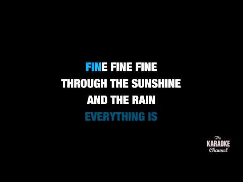 "Everything Is Fine in the Style of ""Josh Turner"" karaoke video with lyrics (no lead vocal)"