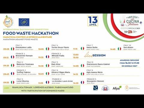 Premiazione - CONCORSO GASTRONOMICO INTERNAZIONALE FOOD WASTE Hackathon
