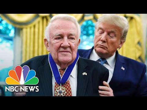 President Donald Trump Presents Medal Of Freedom To Former Attorney General Edwin Meese   NBC News
