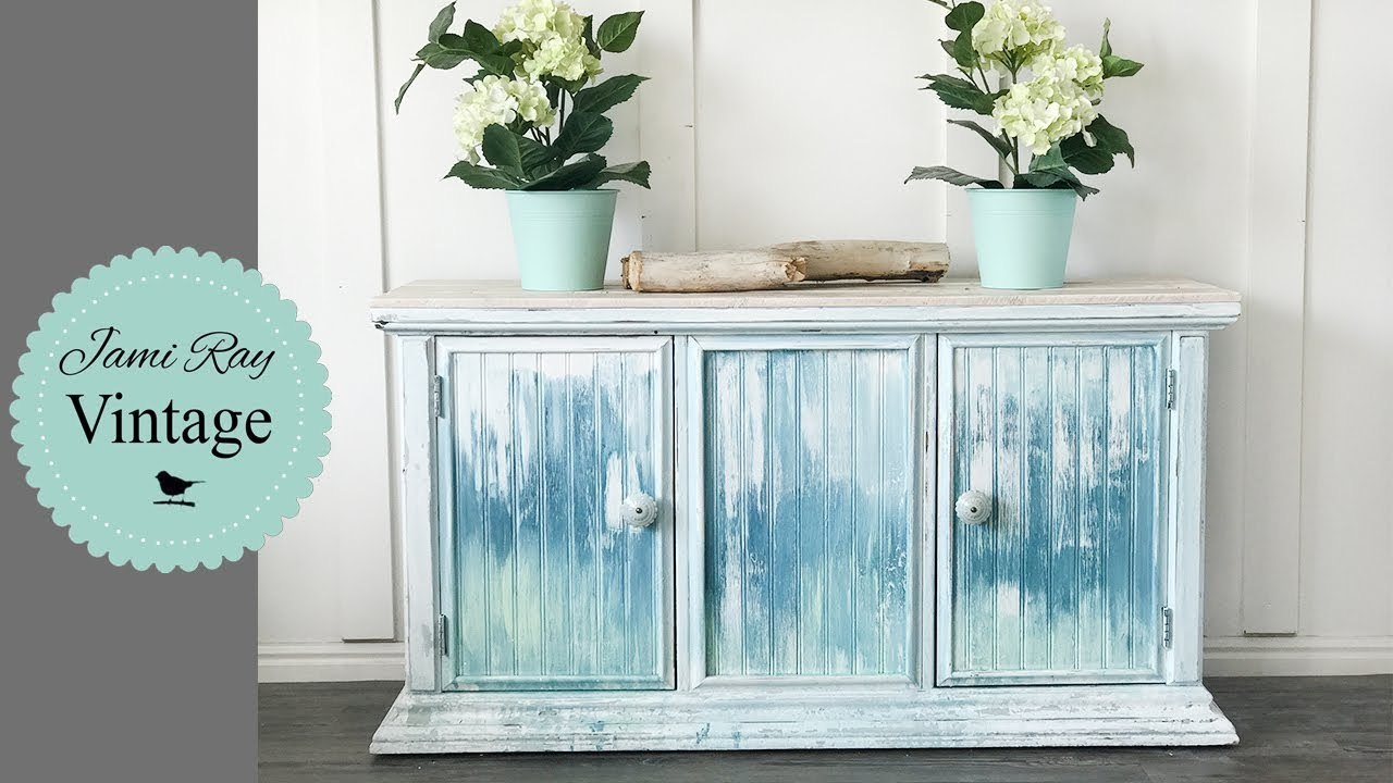 crackle paint furniture youtube