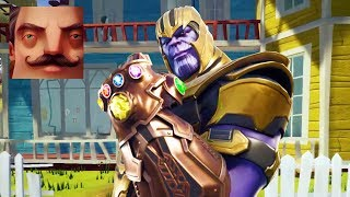 HELLO NEIGHBOR THANOS - My New Neighbor THANOS Act 3 Gameplay Walkthrough