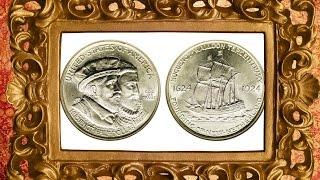 сommemorative coin us 50 сent 1924 huguenot walloon tercentenary half dollar