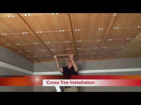 Direct Mount Quick Install- WoodTrac Ceilings - YouTube