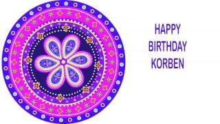 Korben   Indian Designs - Happy Birthday