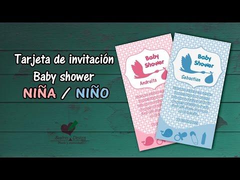 Tarjeta De Invitacion Baby Shower En Photoshop Cc Youtube