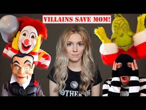 Roblox Ronald & Villains in Real Life SAVE Mom From the Doll Maker at My PB and J House!  