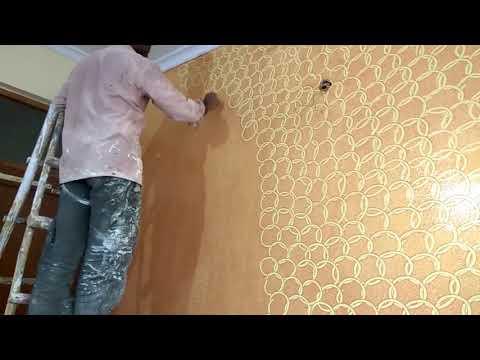 Texture painting lemon base topcoat copper gold