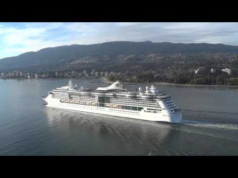 Radiance of the Seas sails away for Hawaii from Vancouver 09082016