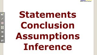 VR9 ISAC Statement Assumption Inference Conclusion Cetking Verbal Reasoning Workshop for CET IBPS PO