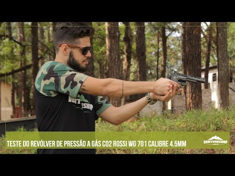 Testando o Revólver de Pressão a Gás CO2 Rossi WG 701 calibre 4.5mm - Ventureshop