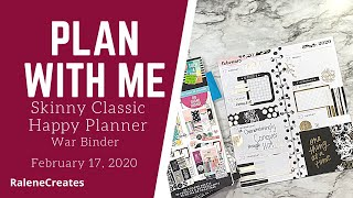 Plan with Me: Skinny Happy Planner War Binder Feb 17, 2020 RaleneCreates