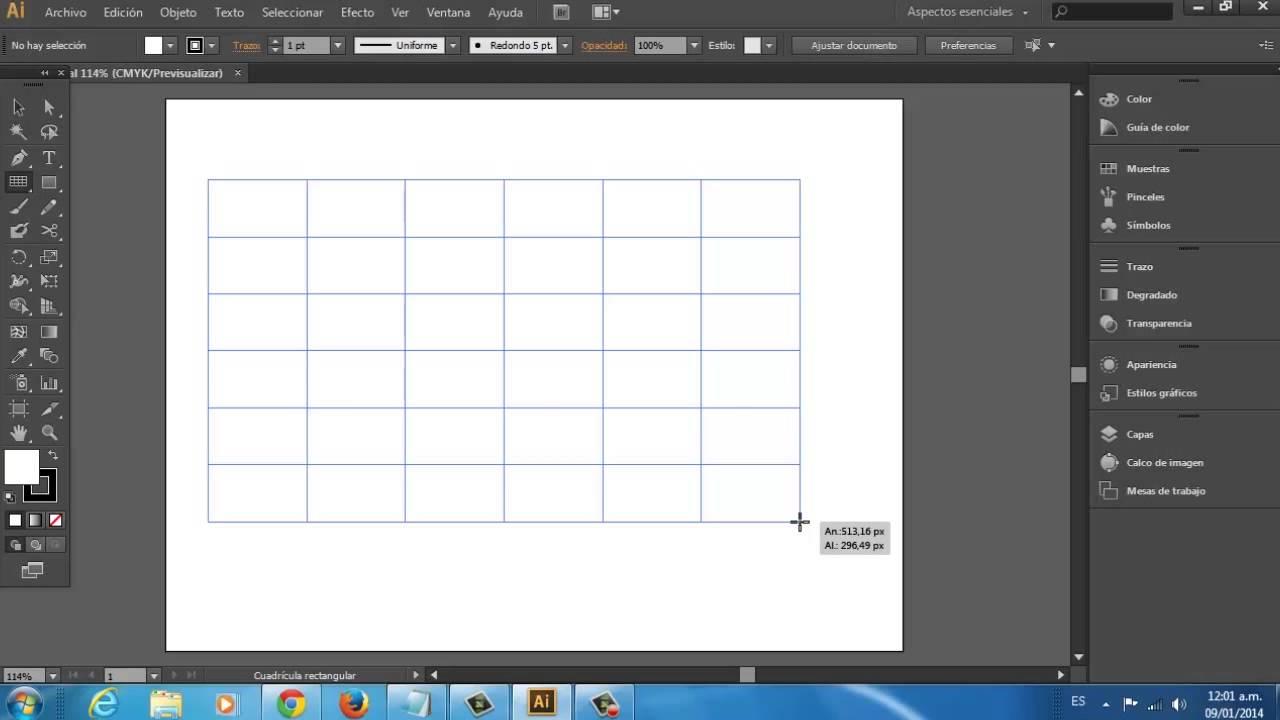 Cómo utilizar la herramienta de cuadrícula en Adobe Illustrator CS6 ...