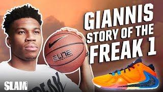 Giannis Antetokounmpo DEDICATES the Nike Freak 1 to his Dad | SLAM Kicks