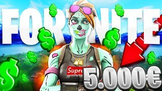 HOW MUCH MONEY IS YOUR OUTFIT WORTH?! FORTNITE VERSION (2000$ SKIN) - ROGERBCN