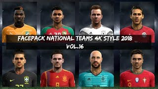 PES 2013 🌍 · NATIONAL FACEPACK VOL.16 STYLE 2018 HD