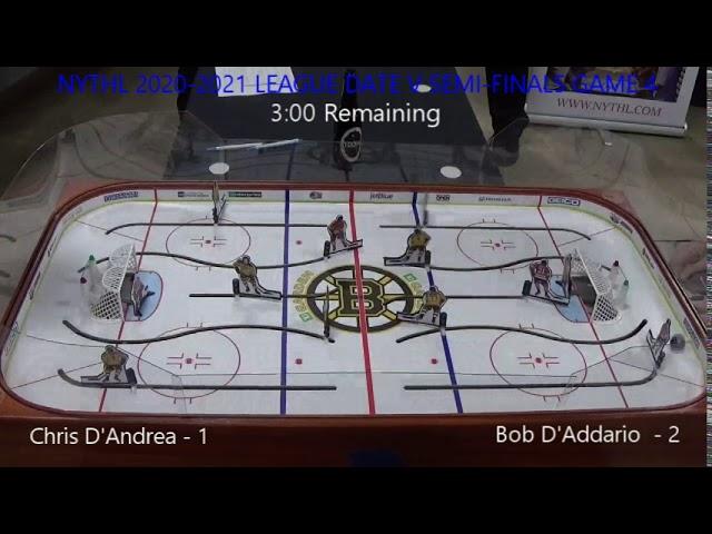 NYTHL 2020 2021 League Date 5 Semi-Finals Game 4 Chris D'Andrea  vs  Bob D'Addario