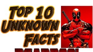 TOP 10 Unknown Facts - Deadpool   movie   wiki   red   band   trailer   game   comics   2016