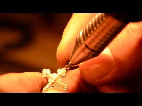 Ювелирный лайфхак. Ремонт крестика аппаратом контактной точечной сварки