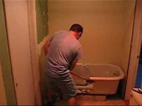 Cast Iron Tub Versus Sledge Hammer - YouTube