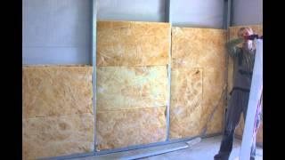 Утепление стен изовером каркасного дома(Утепление и шумоизоляция изовером. Укладка в стены, потолок, крышу. ОСБ стены, гидро и пароизоляция, укладка..., 2014-11-25T10:46:32.000Z)