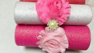 Diadema para jovencitas con flores shaby VIDEO No. 201
