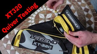 Legend Archery XT320 Quiver Testing Zipper Quality, Water Resistance, What It Can Fit, And More!