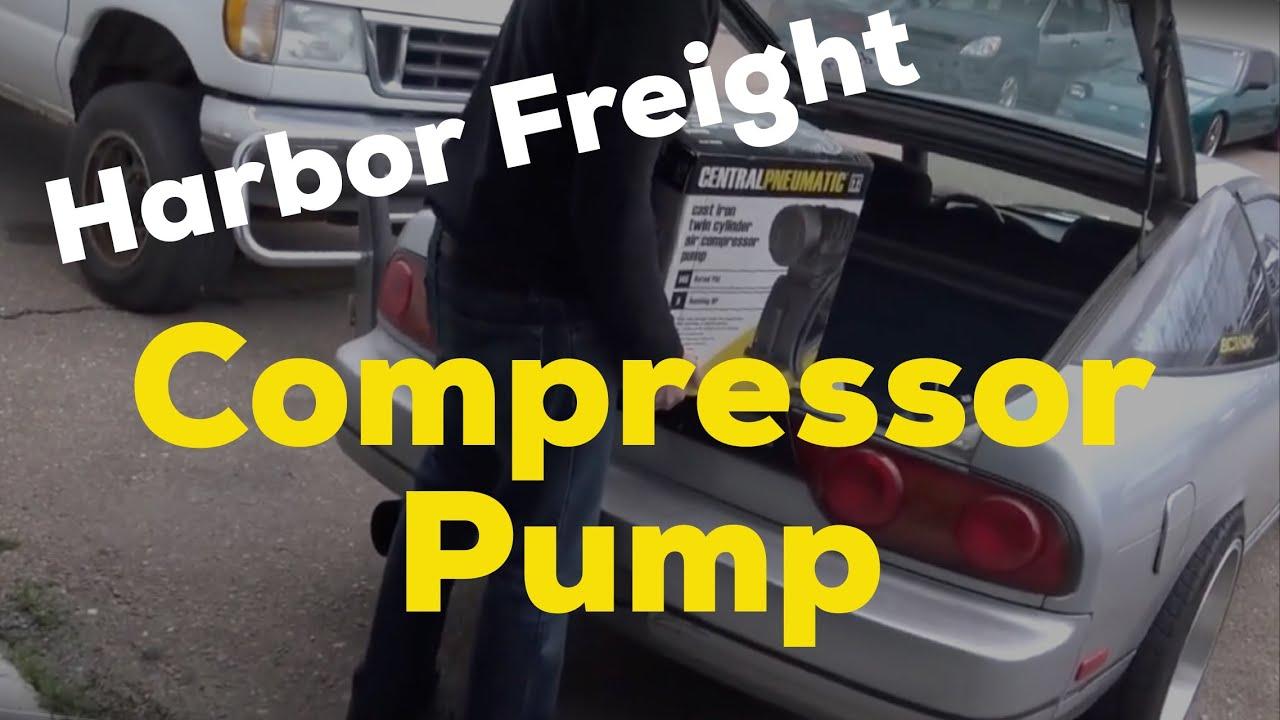 Harbor Freight 3hp Air Pump On Craftsman Compressor Youtube Smith Jones Motors 2 Hp Wiring Diagram