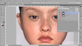 Видеоурок Photoshop Убираем веснушки и блики на лице