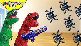 Mega Giant Spider vs. Skyheart Part 2 | insect invasion battle dinosaurs for kids