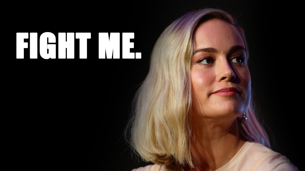 captain marvel rant! brie larson promotes sexism, racism and now violence?!
