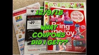 12/9/18 WHAT COUPONS DID I GET??? | GOOD COUPONS THIS WEEK!