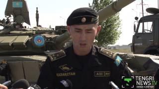 """Элементы """"танкового биатлона"""" показал казахстанский экипаж"""