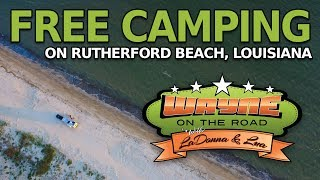 Free Camping on Ruthęrford Beach, Louisiana