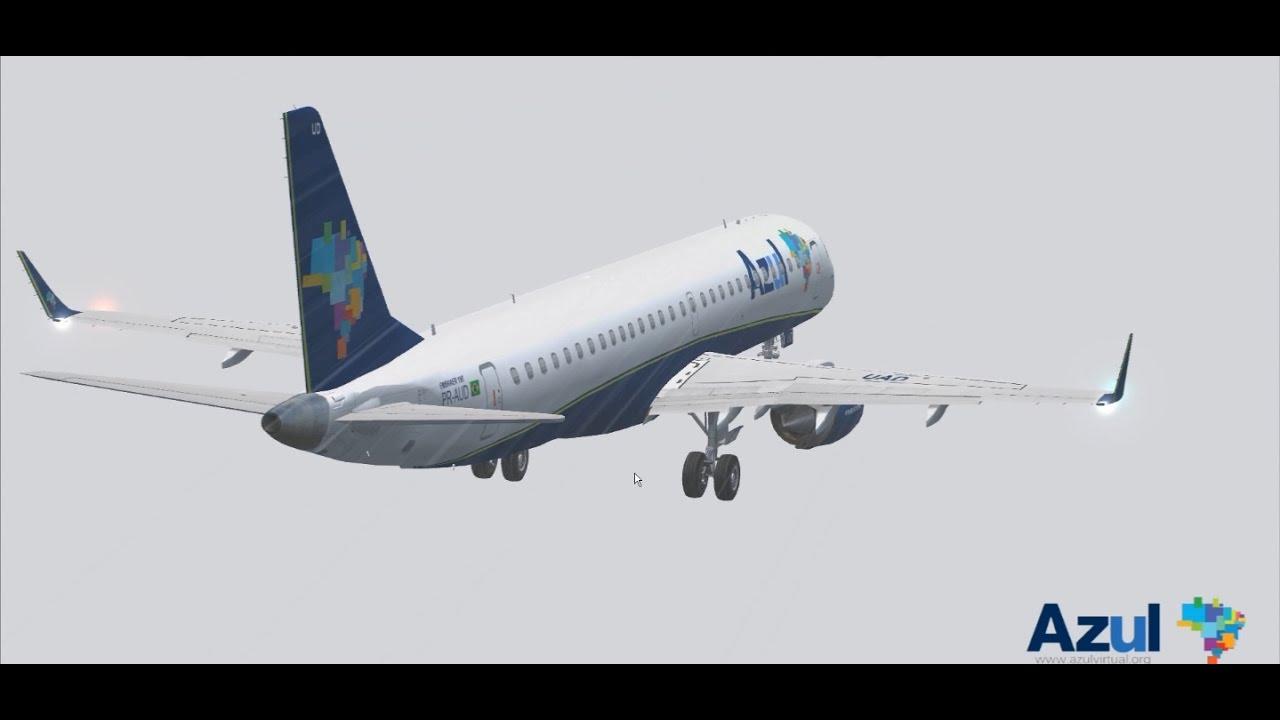 Embraer 190 azul fsx