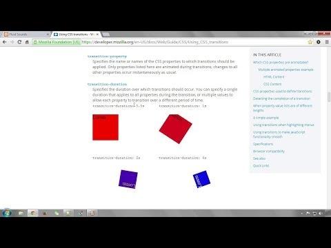 Einführung In CSS3-Transitions | Moderne Webseiten Entwickeln