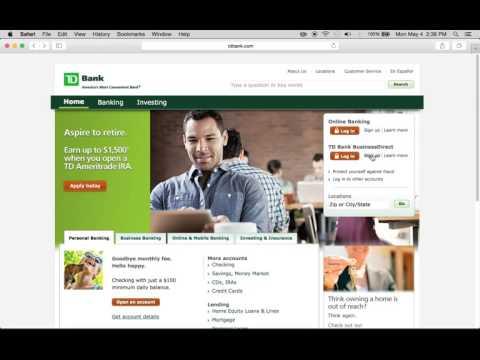 TD Bank Online Banking Login Instructions