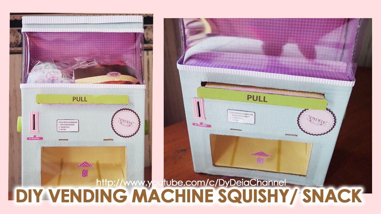 DIY SQUISHY VENDING MACHINE CARDBOARD HANDMADE ~ Cara Membuat Mesin Squishy/Snack Bar Handmade
