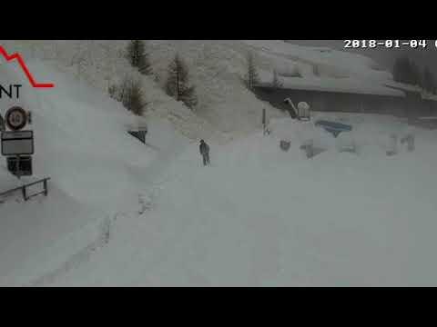 Zermatt: Wanderer entgeht knapp einer Lawine, 5.1.2018