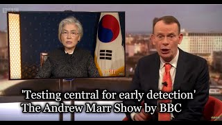 South Korean Foreign Minister: 'Testing central for early detection'  The Andrew Marr Show By BBC