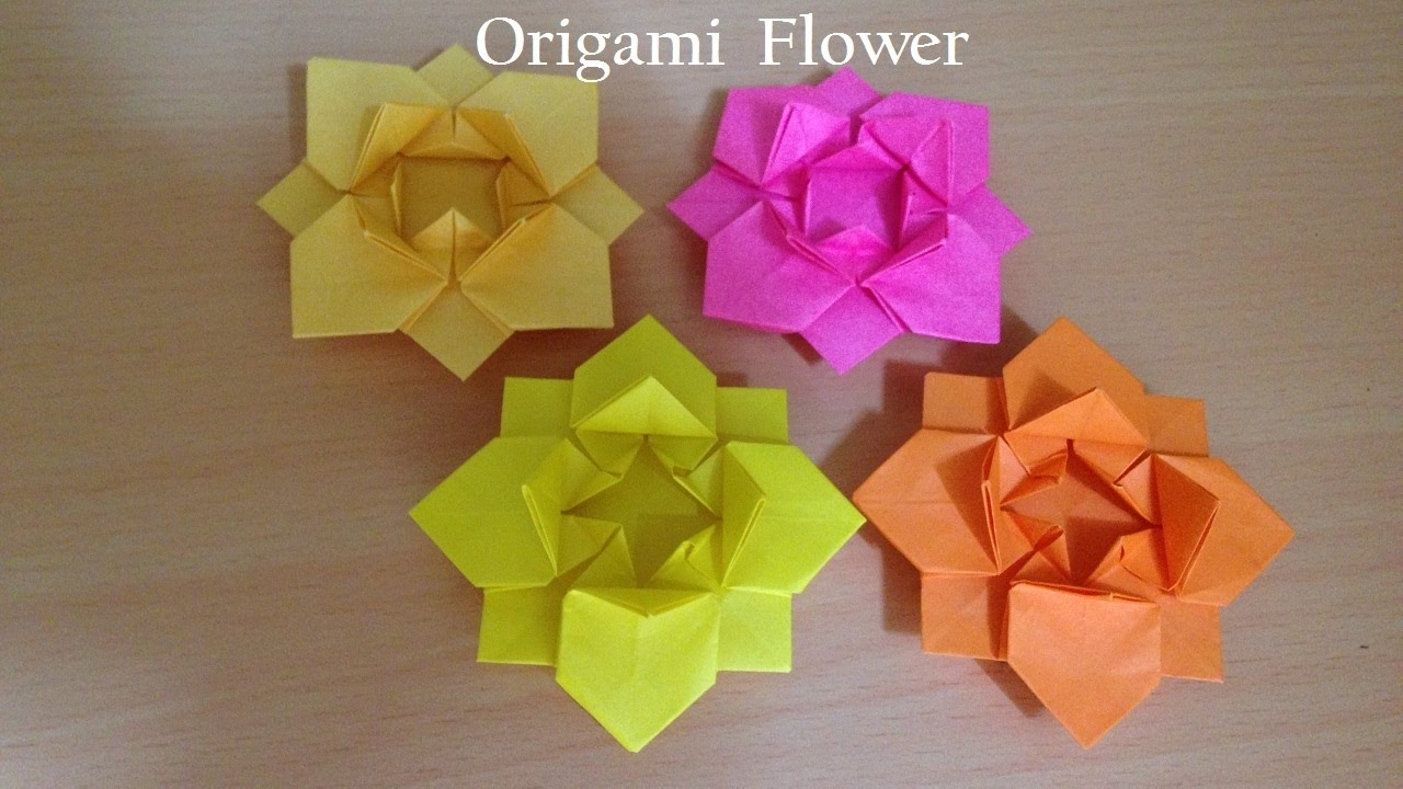 折り紙の花 折り方 Niceno1 Origami Flower Youtube