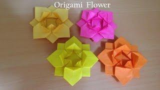 折り紙の花 折り方 (niceno1) Origami flower thumbnail