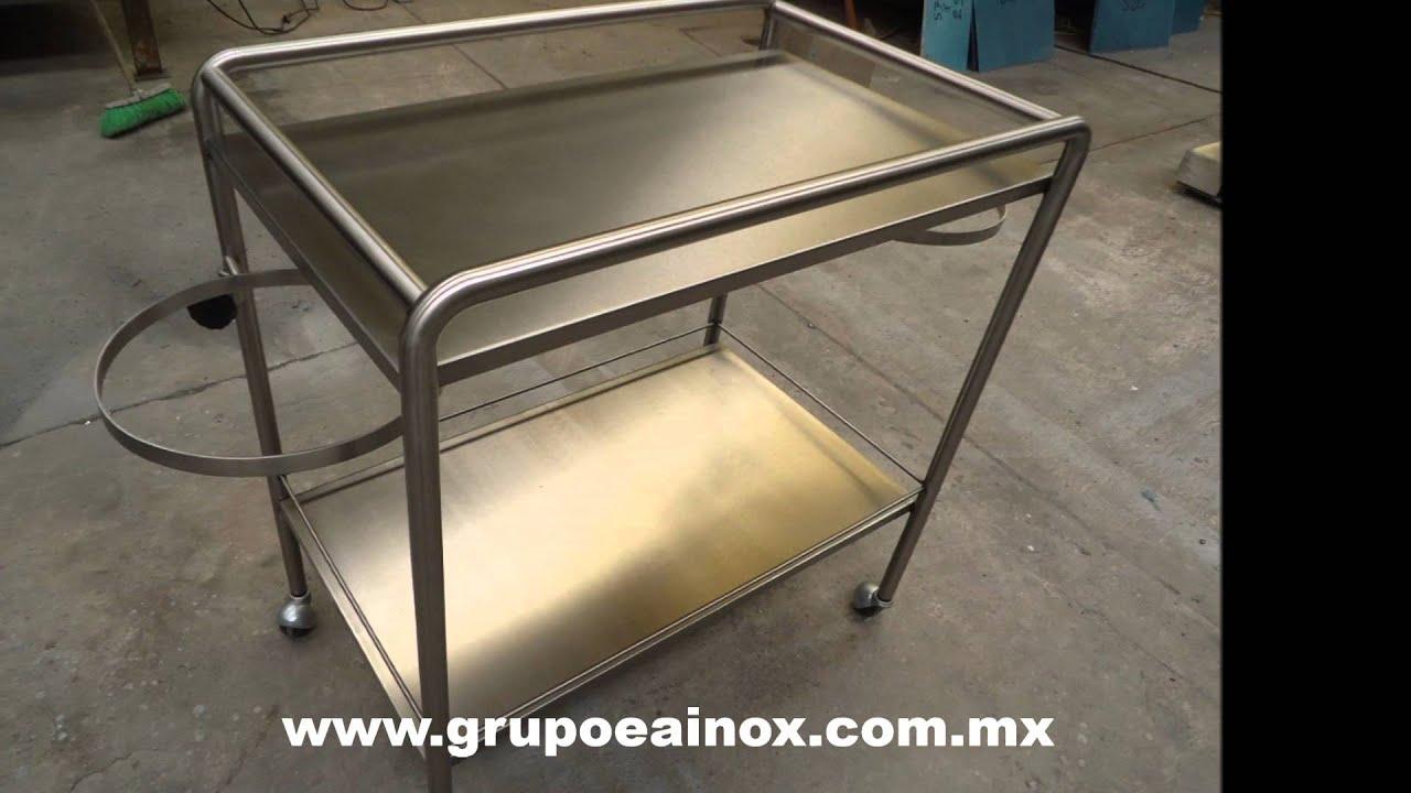 Carro de curacion en acero inoxidable muebles en acero for Muebles en acero inoxidable bogota