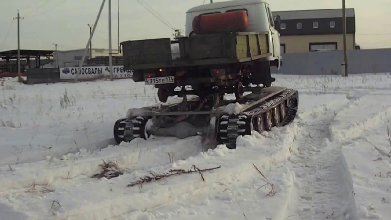 Уаз 452 с кузовом на гусеницах ТСН 74 12 - YouTube