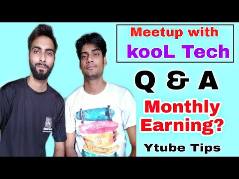 Kool Tech's 1st Q&A Video. Monthly Earning, Youtube Growing Tips