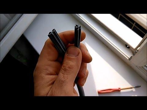 Как поменять резинки на окнах пвх