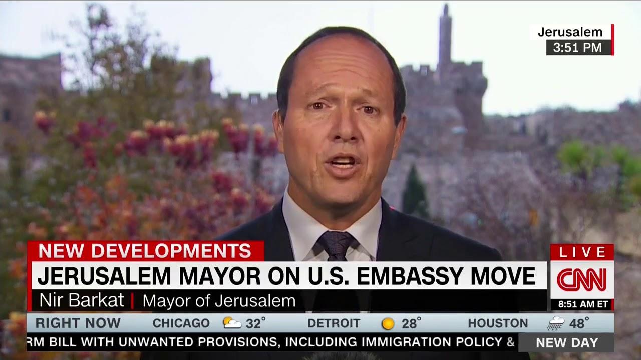 Jerusalem Mayor Applauds Trump's Expected Decision To Recognize Jerusalem  As Capital Of Israel