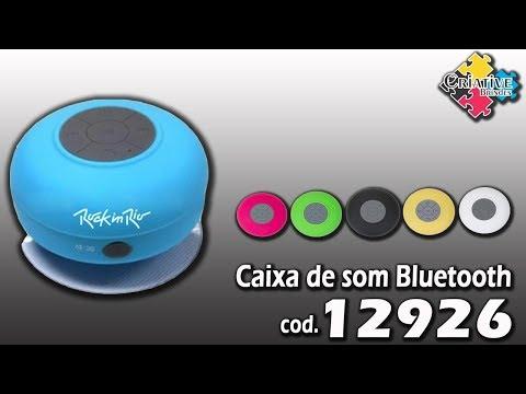 Caixa de Som Bluetooth à Prova dágua 12926 - Criative Brindes