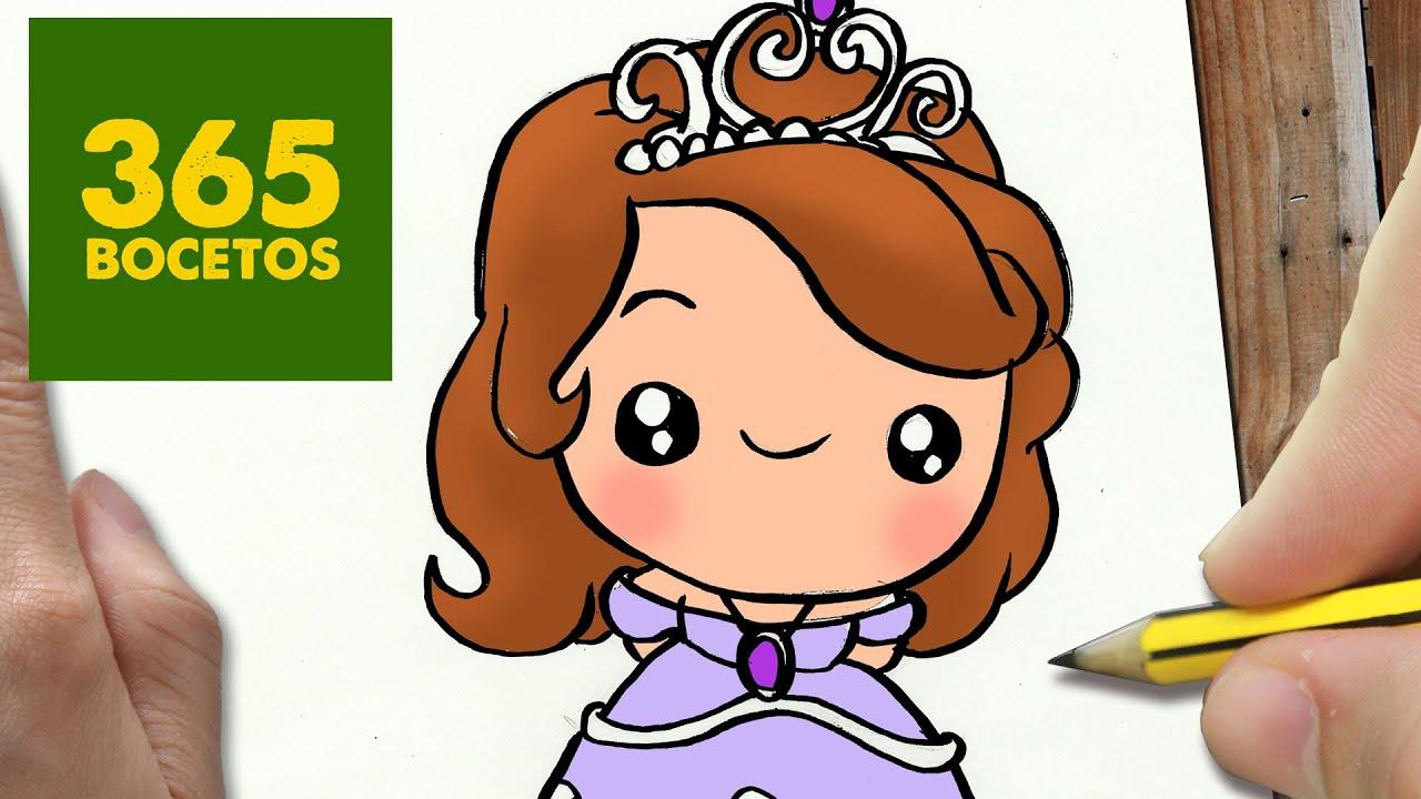 COMO DIBUJAR PRINCESA SOFIA KAWAII PASO A PASO - Dibujos kawaii ...