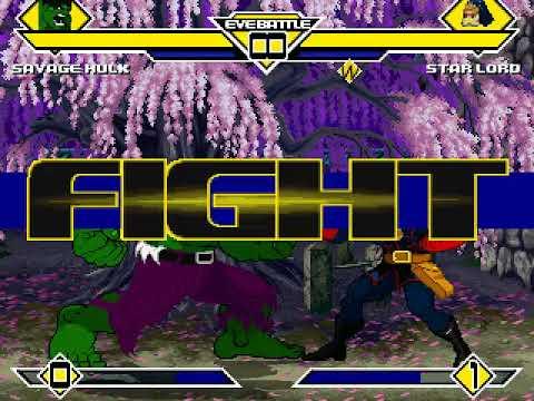Savage Hulk vs Star Lord MUGEN BATTLE