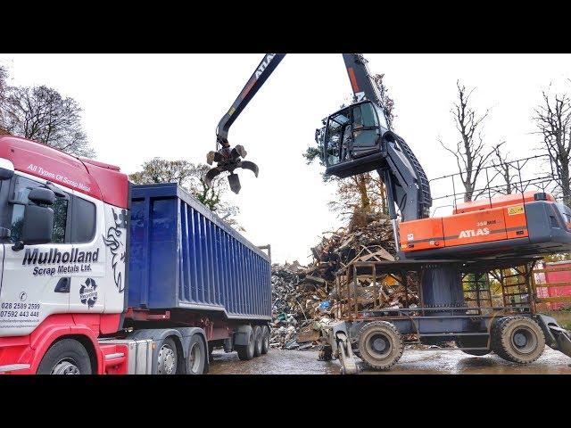 Atlas 350MH Material Handler Working